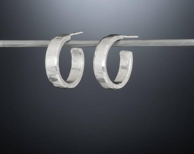 18mm X 4mm Thick Sterling Silver Hoop Earrings