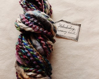 Painterly Storm dark multi colored striped mix Novelty Fiber Yarn Sampler Bundle