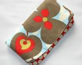 Foldover embrayage, embrayage sac à main, pochette enveloppe, Womens Wallet, Foldover pochette en tissu, idée cadeau anniversaire, sac à main de gloire du matin