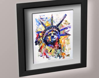 Lady Liberty pdf crossstitch tutorial beautiful colorful modern art vision of the statue of liberty crossstitch  x stitch  INSTANT DOWNLOAD