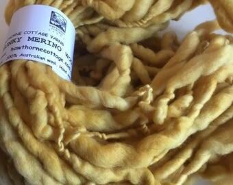 Golden Yellow Mini Hank Merino Chunky Yarn