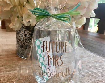 Future Mrs Personalized Stemless Wine Glass