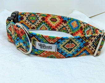 The Rio - Custom Handmade Dog Collar, Tribal, Colorful, Southwestern, Multiple Options