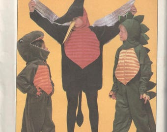 Simplicity 8332 1980s Boys Girls DINOSAUR Costume Pattern T Rex Pterodactyl Stegosaurus Childs Sewing Pattern Size 10 12 Breast Chest 28 30