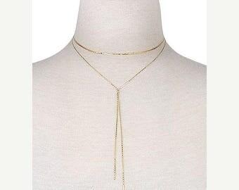 SUMMER SALE Dainty Sleek Center Knot Choker