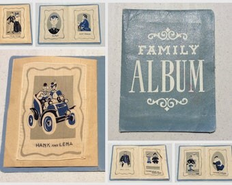 Vintage Cocktail Napkins Set of 8 Family Album Turn of the Century MIB