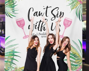 Tropical Party Banner, Tropical Party Banner, Bachelorette Party Backdrop, Beach Bridal Party Backdrop// W-A13-TP REG1 AA3