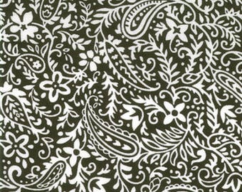 Moda Fabrics Hill Country Spring Paisley in Black  1 yard and 10""