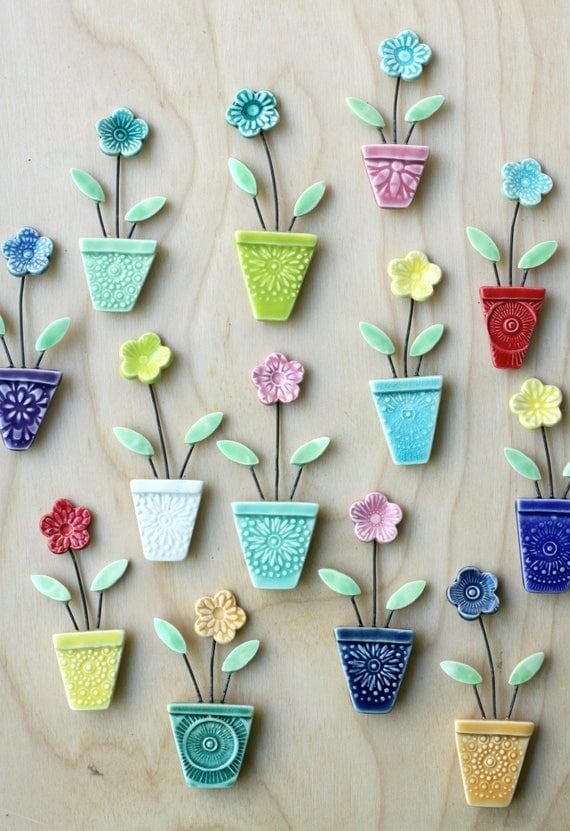 flower pot magnet, choose your favorite one