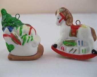 PAIR of Ceramic Ornaments