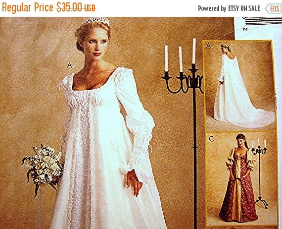 On sale 25 off ever after dress renaissance wedding gown costume on sale 25 off ever after dress renaissance wedding gown costume dress pattern misses size 14 16 18 uncut from patternsfromthepast on etsy studio junglespirit Image collections