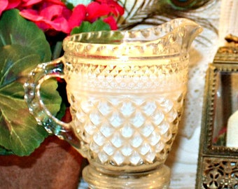 Vintage Pressed Glass Creamer Soy Wax Candle,YOUR SCENT CHOICE,Homemade,Hand Poured,House Warming Gift,Hostess Gift,Birthday Gift,Bridal