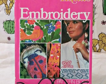 Vintage Embroidery Book | 1972 Pattern Book