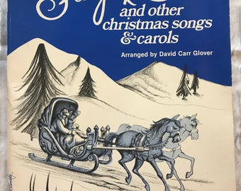 Vintage 1983 Sleigh Ride And Other Christmas Songs & Carols By David Carr Glover