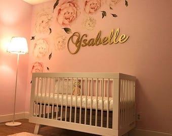 Custom GLITTERED Nursery Letters Baby Girl Nursery Decor