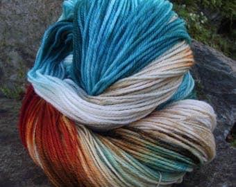 Handpainted sock yarn, fingerling yarn, Superwash Merino  Nylon, 100 grams-Mrs. Fox