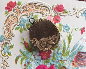 Victorian Engraved Watch Fob Locket