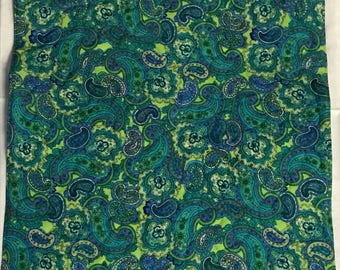 """American Girl Doll Quilt, teal and green reversible quilt, paisley quilt, 17""""x 21"""""""