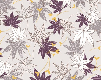 Japanese Maple Leaves Fabric - Maple Leaves By Ldpapers - Japanese Maple Leaves Home Decor Cotton Fabric By The Yard With Spoonflower