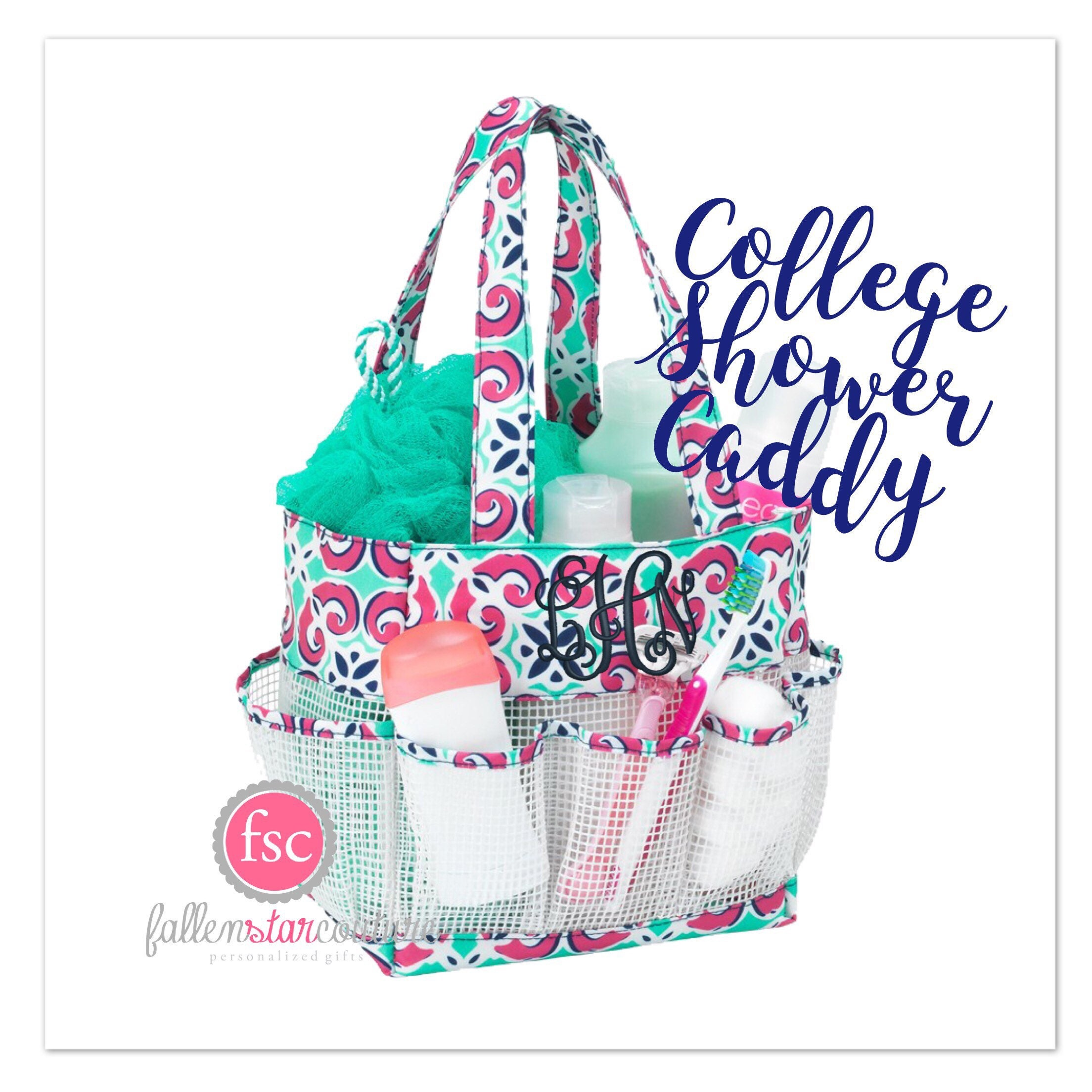 College Girl Shower Caddy Personalized Shower Caddy-4155