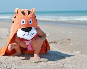 Yikes Twins Tiger Hooded Towel