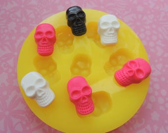 Silicone Skull Mold Halloween Soap Mold Fondant Skull Polymer Clay Wax Resin Soap Mould
