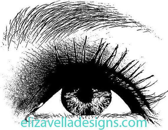 young girls eye looking up png clip art Digital Image Download long lashes beauty makeup