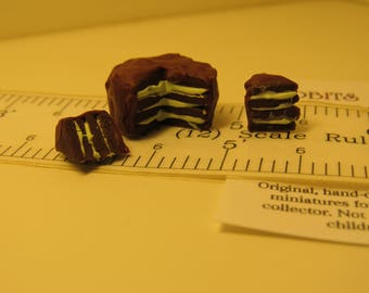 Mint Chocolate Cake 1:12 scale Dollhouse Miniature