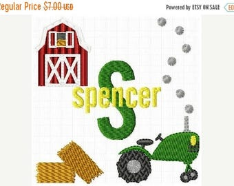 SALE 65% OFF Farm Tractor Machine Embroidery Monogram Boy Fonts Designs Instant Download Sale