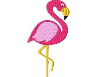 SALE 65% OFF Pink Flamingo Bird Tropical with fill Machine Embroidery Design 4x4 and 5x7 Instant Download
