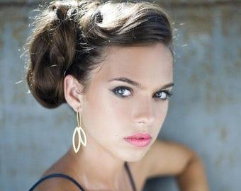 On Sale 40% off, Drop Earrings, metal petal woodland dangle jewelry