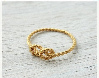 On Sale 40% off, Sailors Knot Ring, nautical jewelry