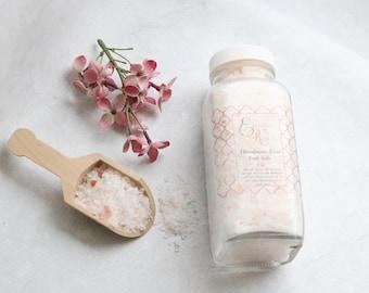 Himalayan Rose Bath Salts, 8 oz, Rose Bath Salts, Bath Soak, Bath Salt, Dead Sea Salt, Natural Bath Salt