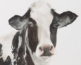 cow print cow Peekaboo nursery art print for nursery animal print animal  peek a boo animal print SEE PHOTOS to view all 15 PRINTS 11x14 New