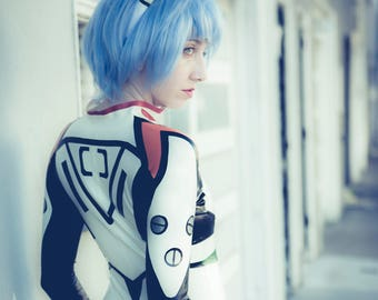 Rei Ayanami Complete Costume, includes catsuit and headband