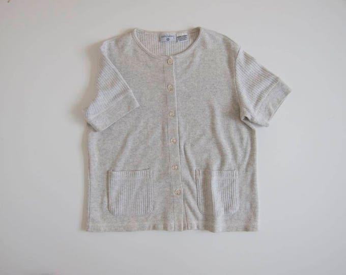 Minimal Cotton Rib Top / Medium
