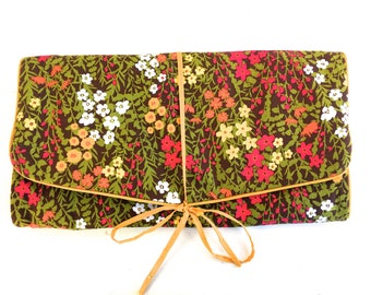 Vintage Floral Toiletry Bag~ Overnight Cosmetic Bag