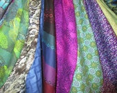 blue, green and purple gypsy skirt