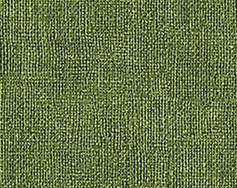 Looks like Burlap but it is soft cotton fabric Dark Green