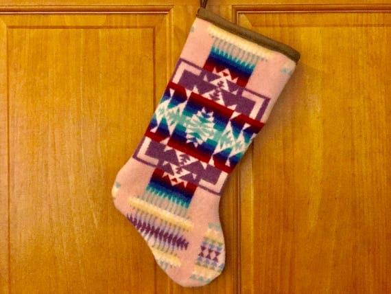 Christmas Stocking XL Lambswool Light Pink Chief Joseph