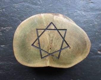 Rare Natural Wood Talisman - English Ivy - Double Sided for Fidelity.
