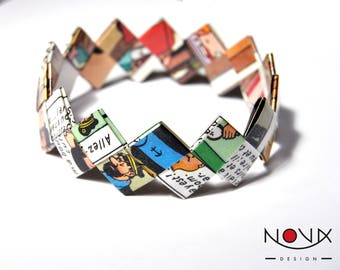 * ORIGAMI bracelet * Comics comic book comic #27