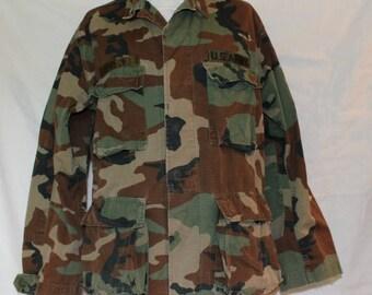 Vintage US Military Coat, 100% Cotton,, Size Medium-regular