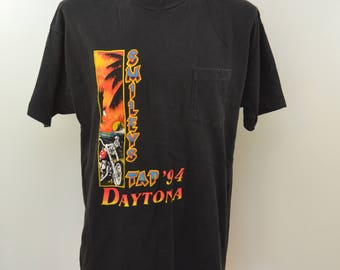 Vintage DAYTONA Bike Week 1994 t-shirt XL Smileys Tap Florida