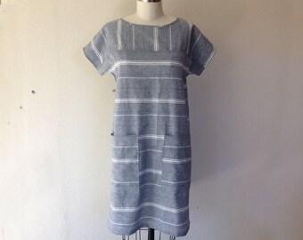 Sadie striped shift dress- Small