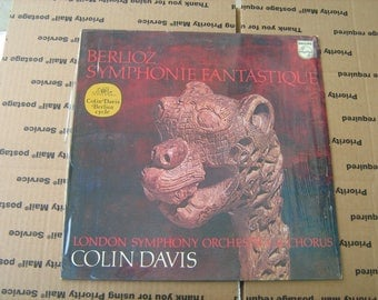 "1960s Colin Davis "" Berlioz symphonie fantastique  Vinyl Record 33-1/3 rpm on Philips London symphony orchestra Chorus"