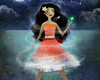 10% Off - Summer SALE Moana - Disney Princess  - Deluxe Edition Print