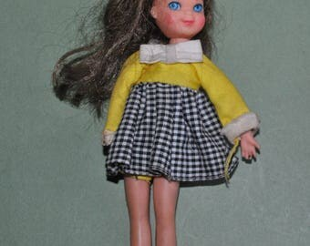 Vintage Barbie Tutti Doll with #3606 Clowning Around Dress and Panties 1967-71