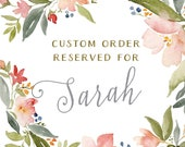 Reserved for Sarah - Custom Map Invitation Sets