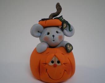 Halloween Jack o'Lantern Pumpkin - Polymer clay by Helen's Clay Art